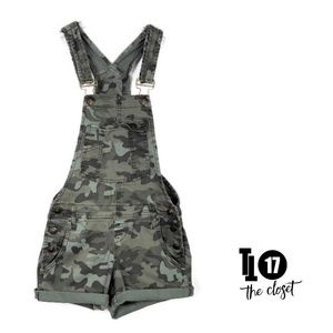 Lei Shorts Overalls Romper Camouflage XS